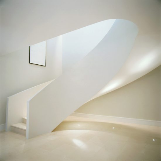 london minimal white staircase